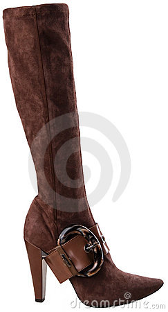 Free Stylish High Heel Fashion Boot Isolated On White Stock Photo - 6152300