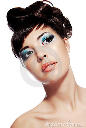 Stylish image of creativity make-up