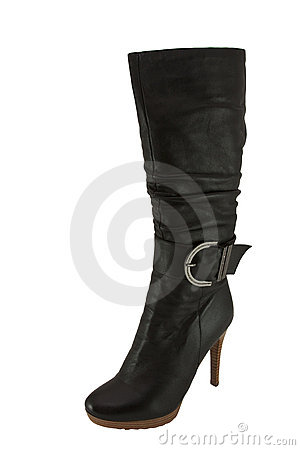 Free Stylish Ladies  Boot On A High Heel Royalty Free Stock Photo - 12238895