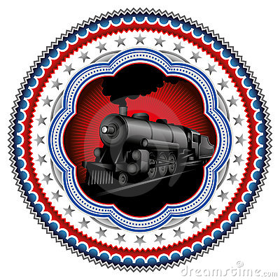 Stylish locomotive label.