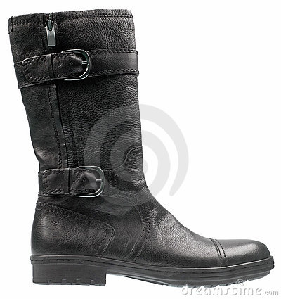 Free Stylish Male High Heel Fashion Boot On White Royalty Free Stock Photo - 8360075