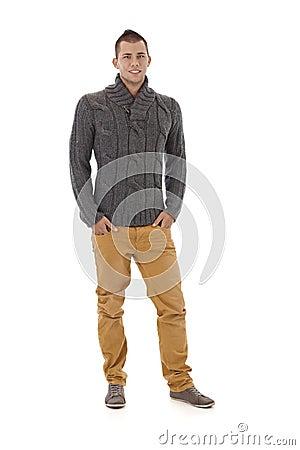 Stylish man in autumn sweater