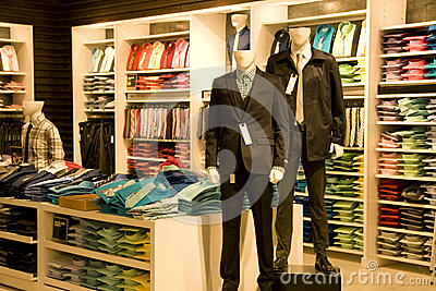 Stylish Man Clothing In Store Stock Photography - Image: 28725662