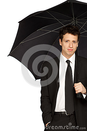 Stylish Man with Umbrella