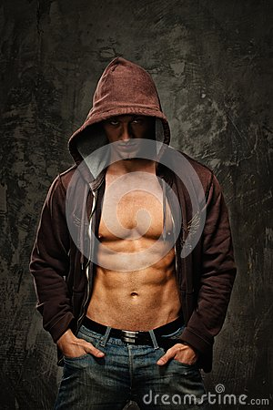 Free Stylish Man Wearing Hoodie Royalty Free Stock Photos - 39584318