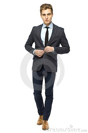 Stylish man wearing suit