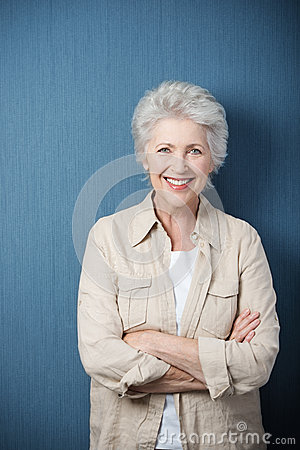 Stylish modern elderly woman