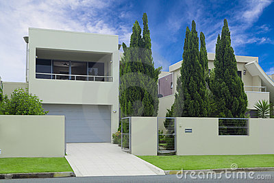 Stylish modern house front