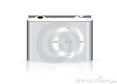 Stylish, modern mp3 player metal