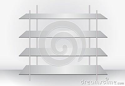 Stylish modern shelf