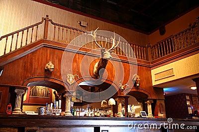 A stylish night bar