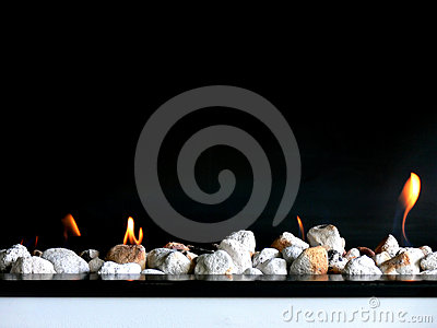 Stylish Open Fire