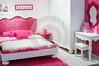Stylish pink bedroom