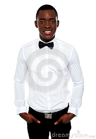 Stylish portrait of handsome young african