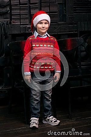 Free Stylish Portrait Of  Santa Boy Royalty Free Stock Image - 84923896