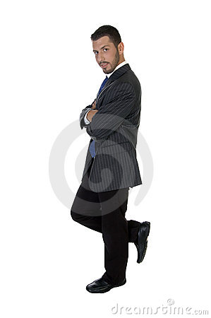 Free Stylish Pose Of American Businessman Royalty Free Stock Images - 6550209