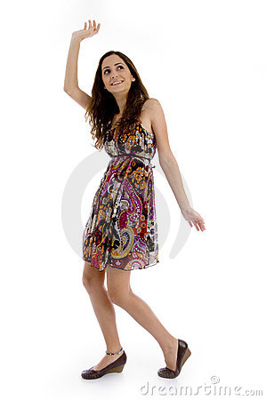Free Stylish Pose Of Young Woman Stock Photography - 7418112