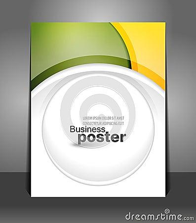 Stylish presentation of business poster