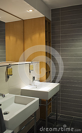 Stylish public restroom