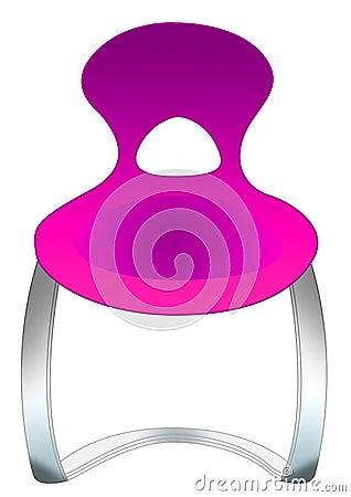 Stylish purple chair
