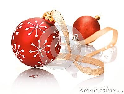 Stylish red Christmas background