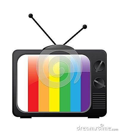 Stylish retro TV icon