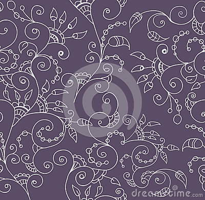 Stylish seamless floral background