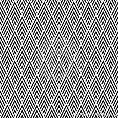 Stylish Seamless Geometric Pattern Background Vector Illustration