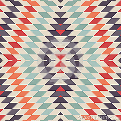 Free Stylish Seamless Vector Tribal Pattern For Textile Design Stock Image - 53565751