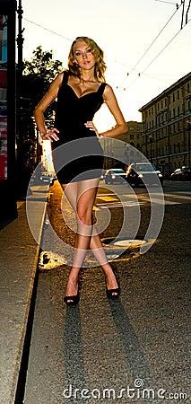 Stylish city woman