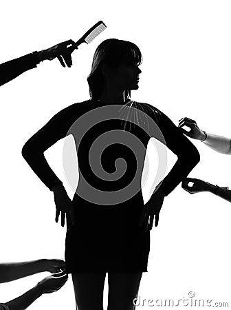 Stylish silhouette woman fashion model