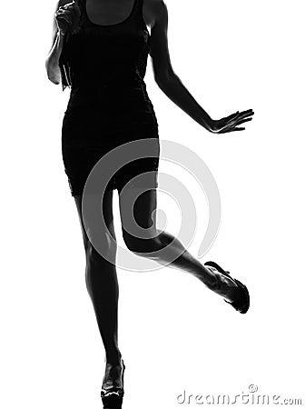 Stylish silhouette woman legs