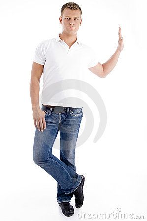 Stylish standing pose of man