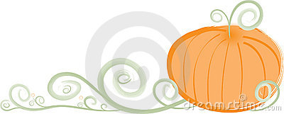 Stylish Swirly Pumpkin Border