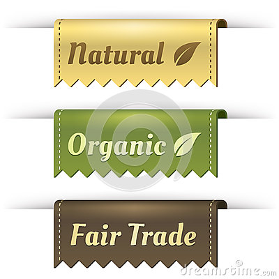 Stylish Tag Labels for Natural, Organic, FairTrade