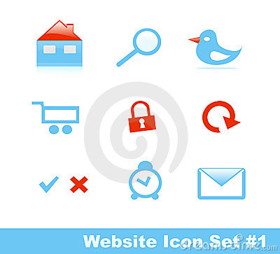 Stylish website icon set, Part 1