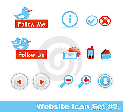 Stylish website icon set, Part 2