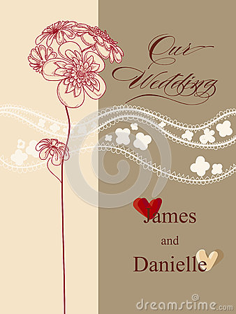 Stylish wedding invitation card