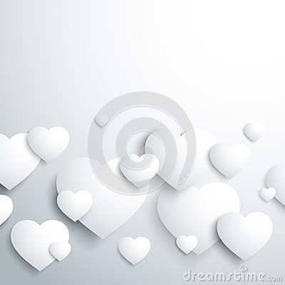 Stylish white heart