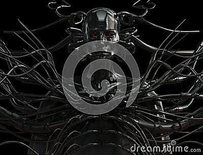 Stylish wired cyber man