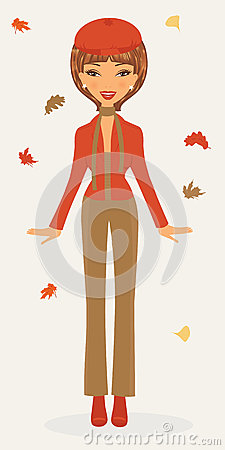 Stylish woman in autumn