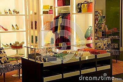 Stylish woman fashion store