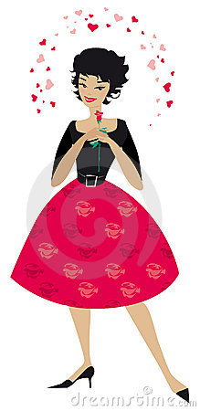 Free Stylish Woman In Love Stock Images - 5923184