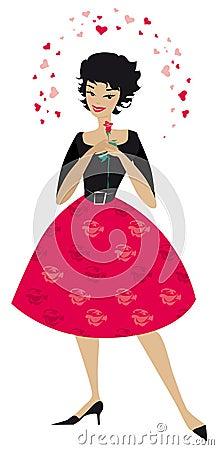 Stylish woman in love