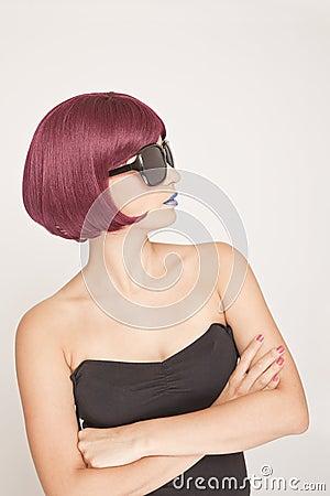 Stylish Woman side view
