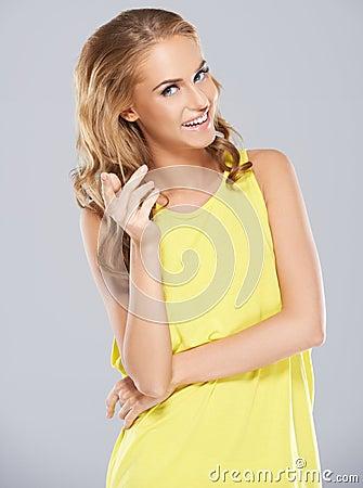 Stylish young woman posing