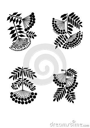 Stylization σορβιών κλάδων