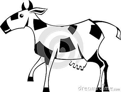 Stylization cow