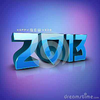 Stylized 2013 Happy New Year background.