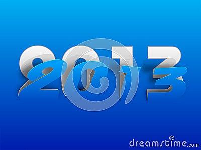 Stylized 2013 Happy New Year background.